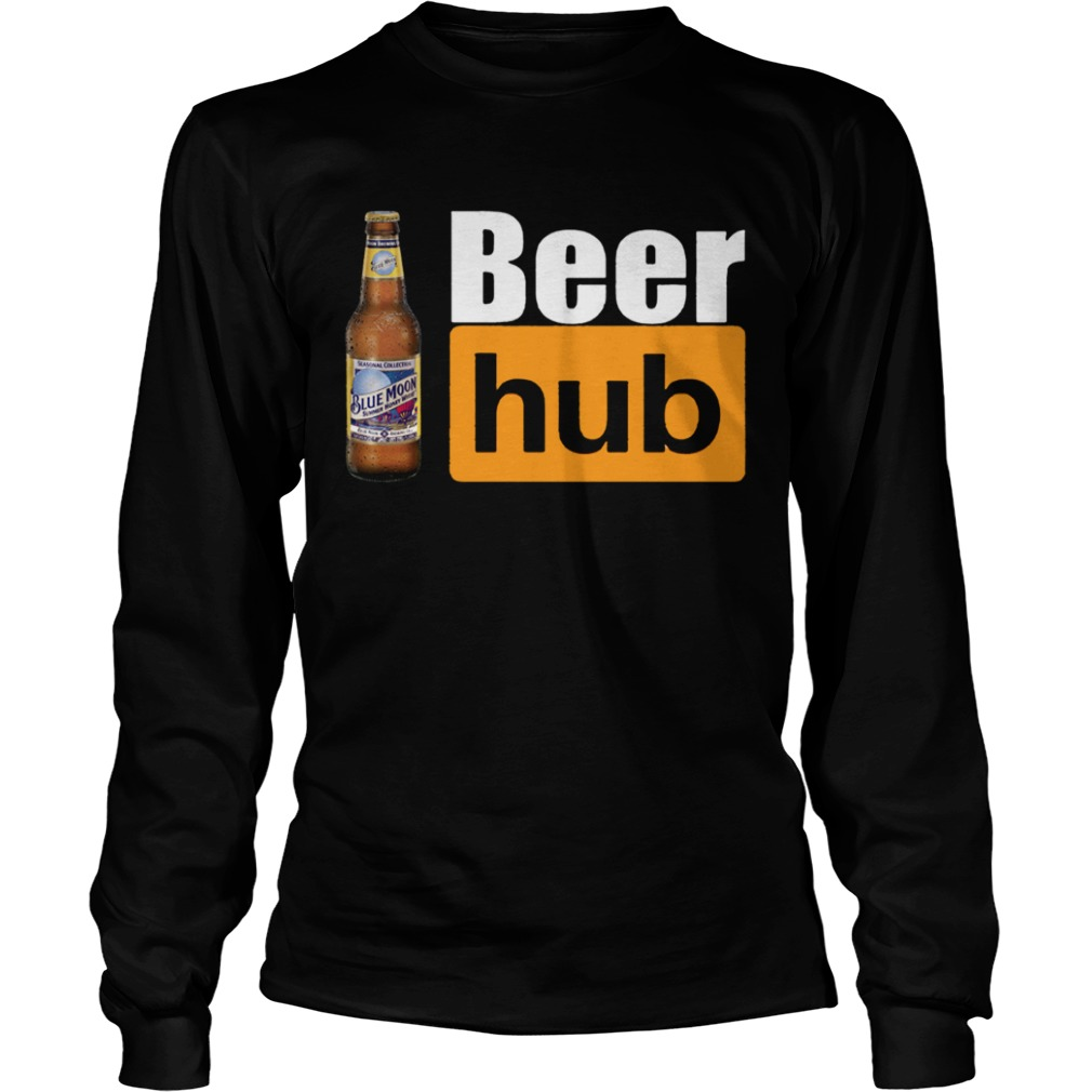 Blue Moon Beer Hub Shirt Porn Hub Style Beer Tee Shirt LongSleeve