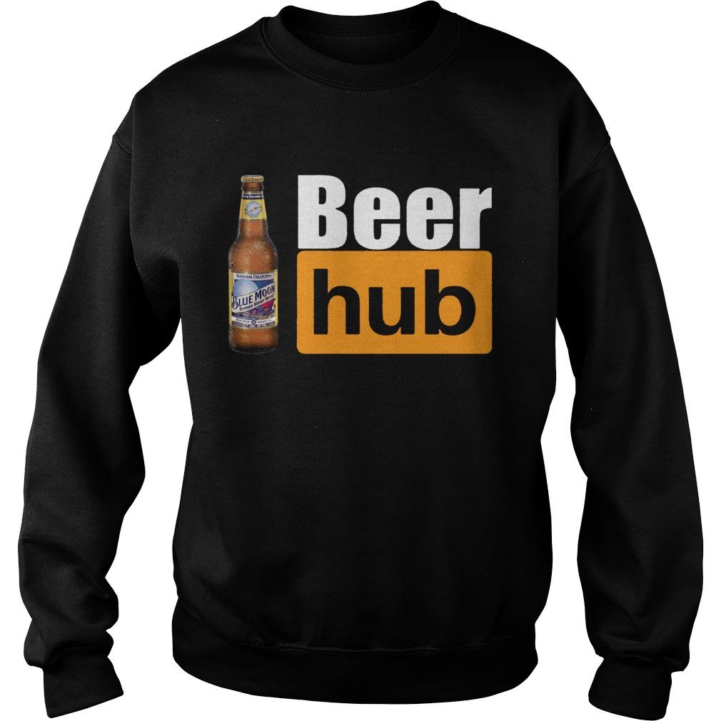 Blue Moon Beer Hub Shirt Porn Hub Style Beer Tee Shirt Sweatshirt