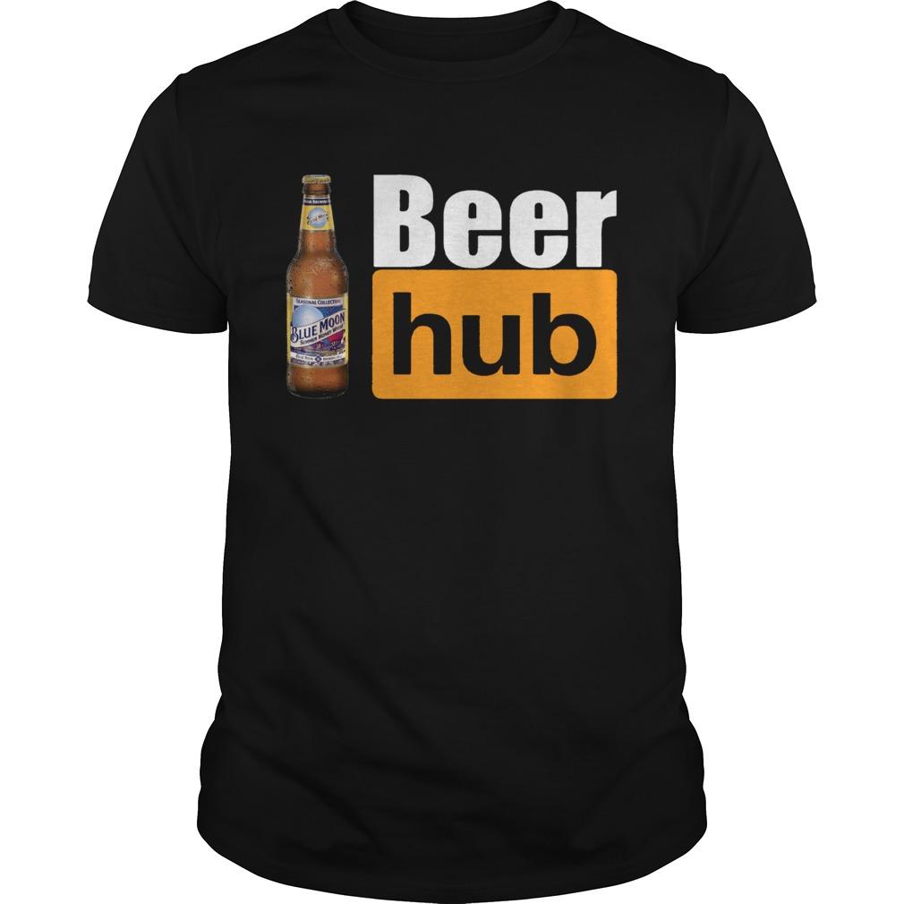 Blue Moon Beer Hub Shirt Porn Hub Style Beer Tee Shirt Unisex