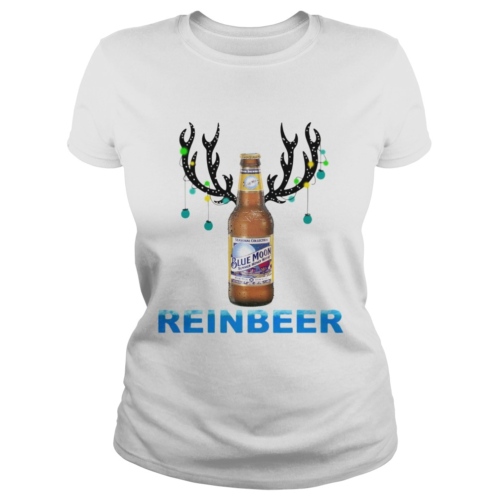 Blue Moon ReinBeer Christmas Shirt Classic Ladies