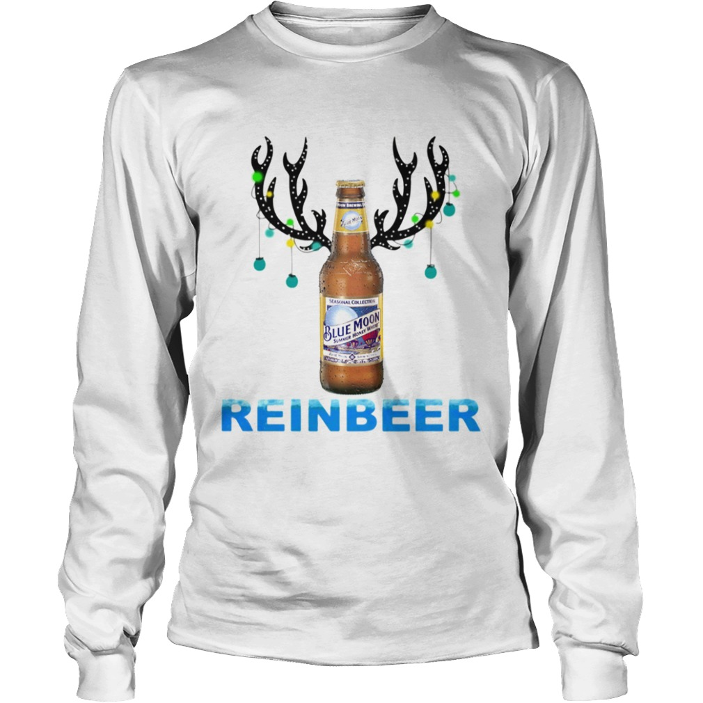 Blue Moon ReinBeer Christmas Shirt LongSleeve