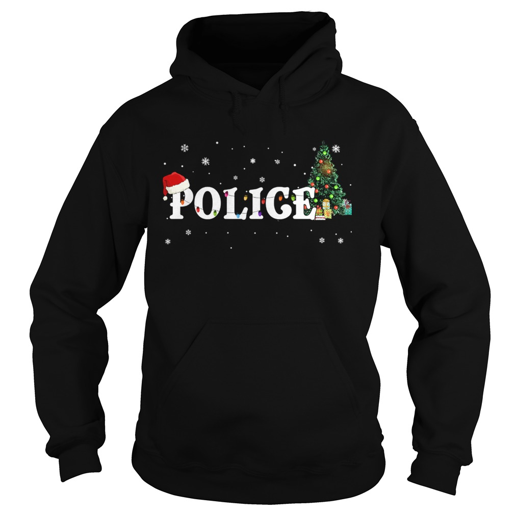 Police Christmas Santa Hat Holiday TShirt Hoodie