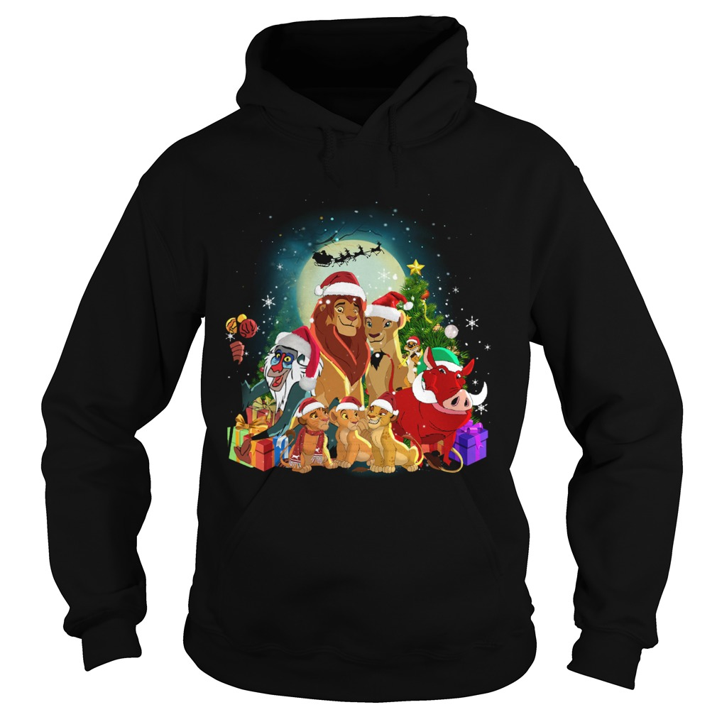 The Lion King Characters Christmas Shirt Hoodie