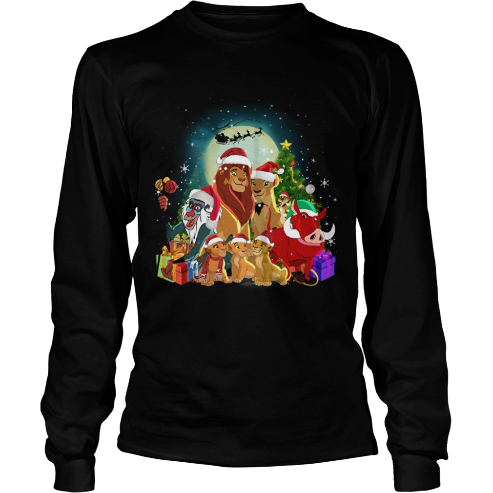The Lion King Characters Christmas Shirt LongSleeve