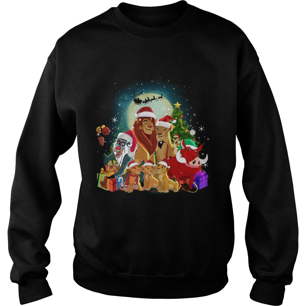 The Lion King Characters Christmas Shirt Sweatshirt