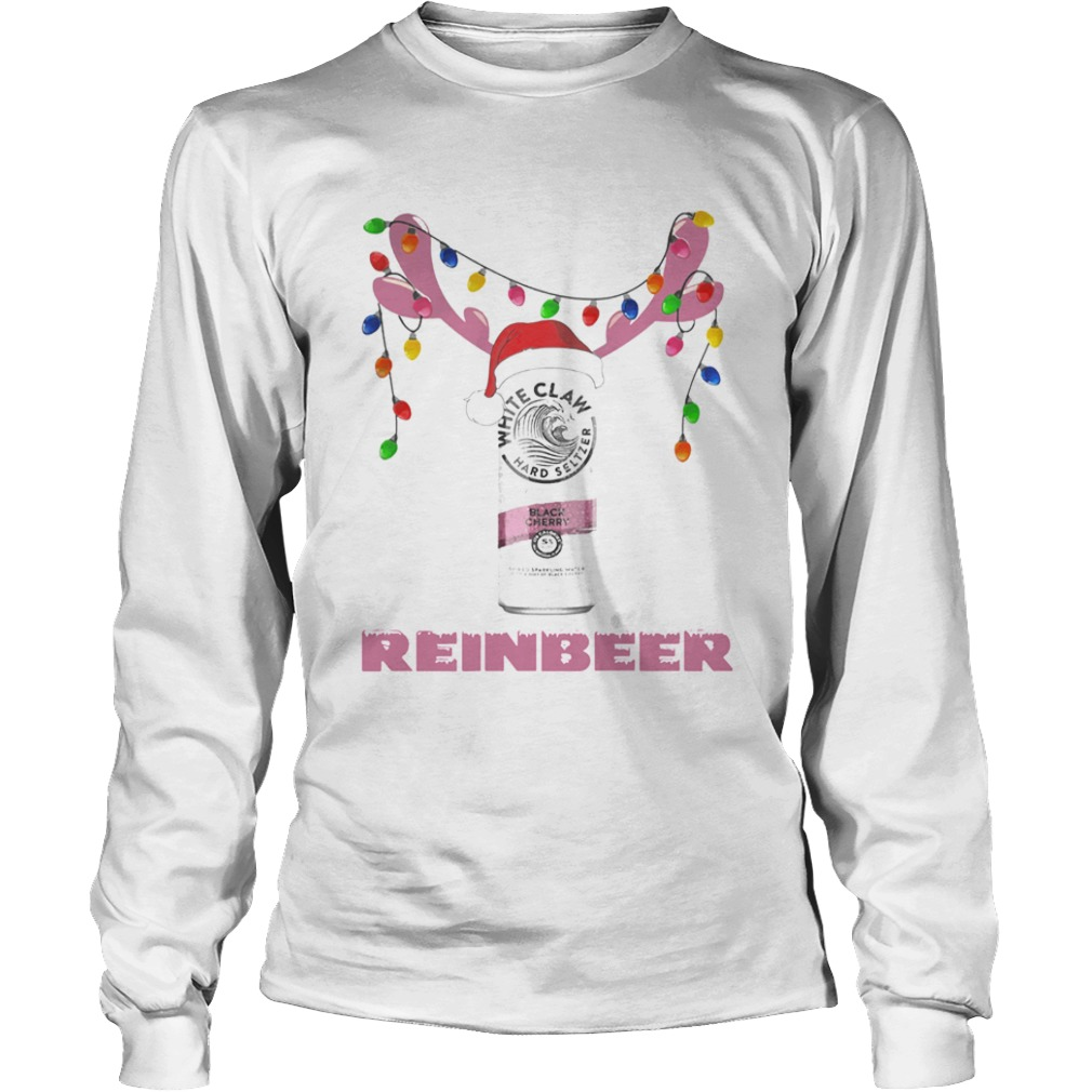 White Claw Black Cherry Reinbeer Light Christmas Shirt LongSleeve