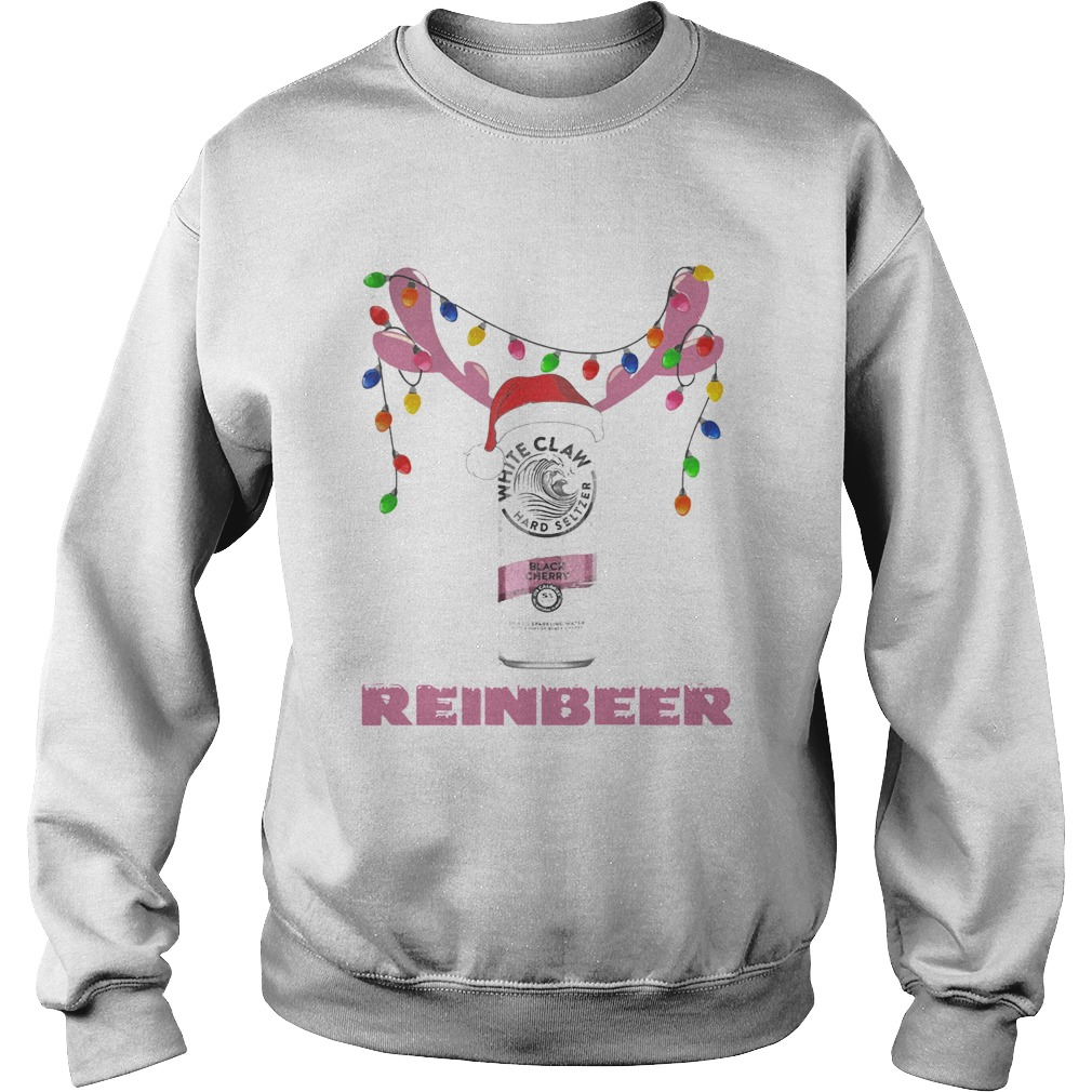White Claw Black Cherry Reinbeer Light Christmas Shirt Sweatshirt