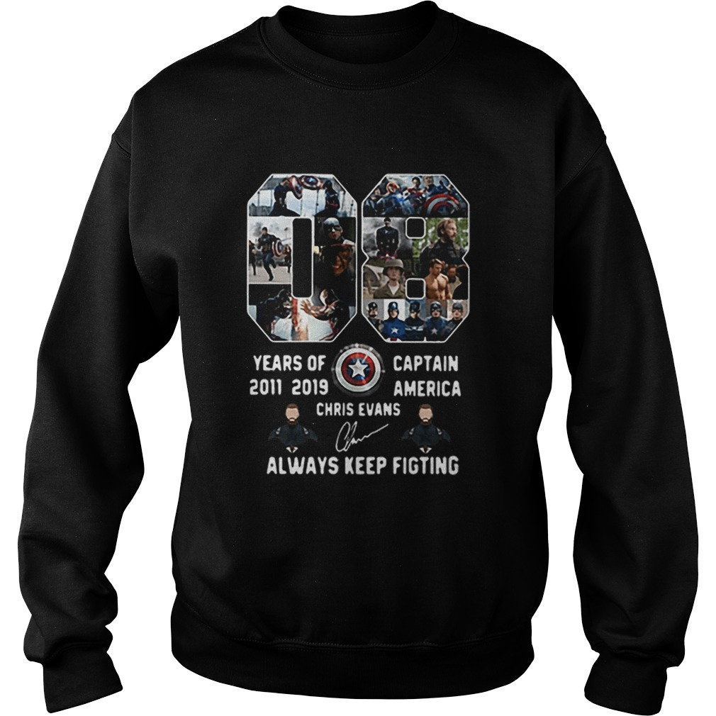 08 years of Captain America 2011 2019 Chris Evans  Sweatshirt