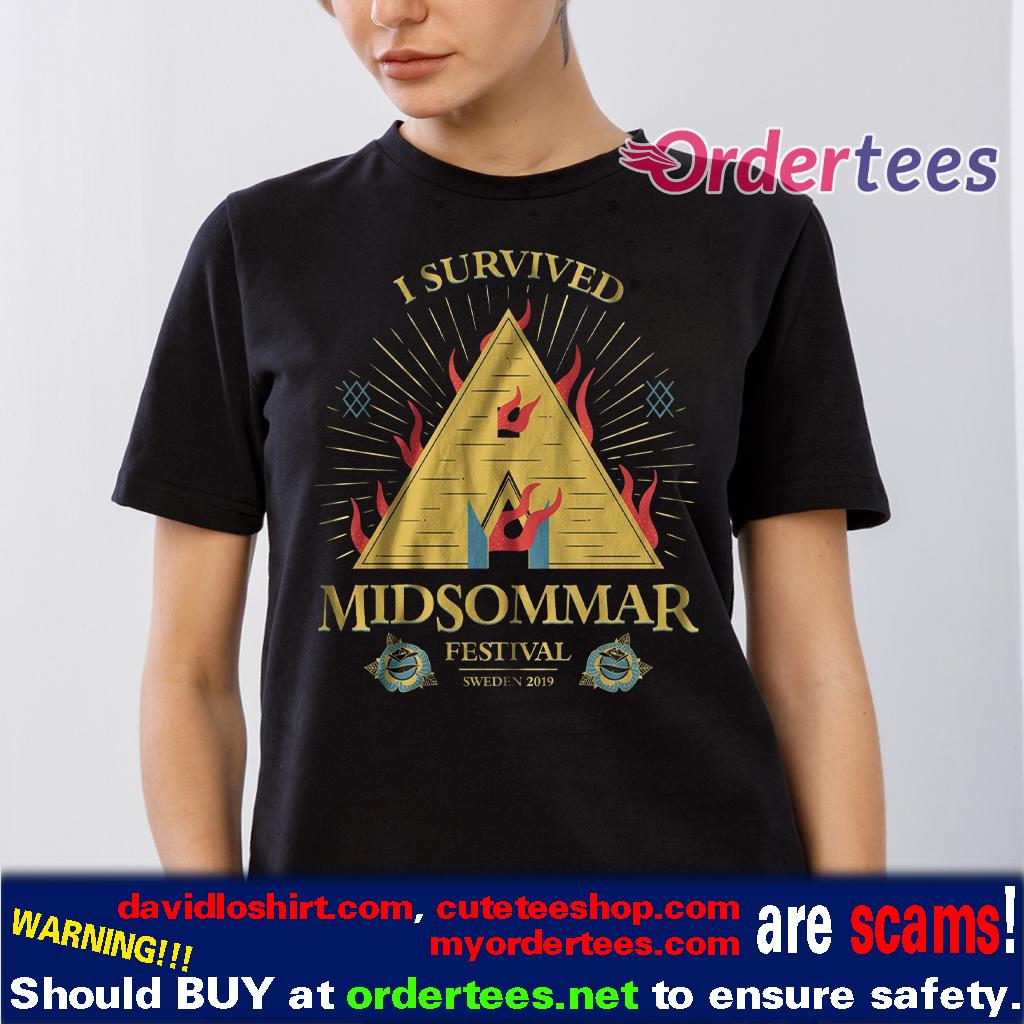 I Survived Midsommar festival horror t shirt