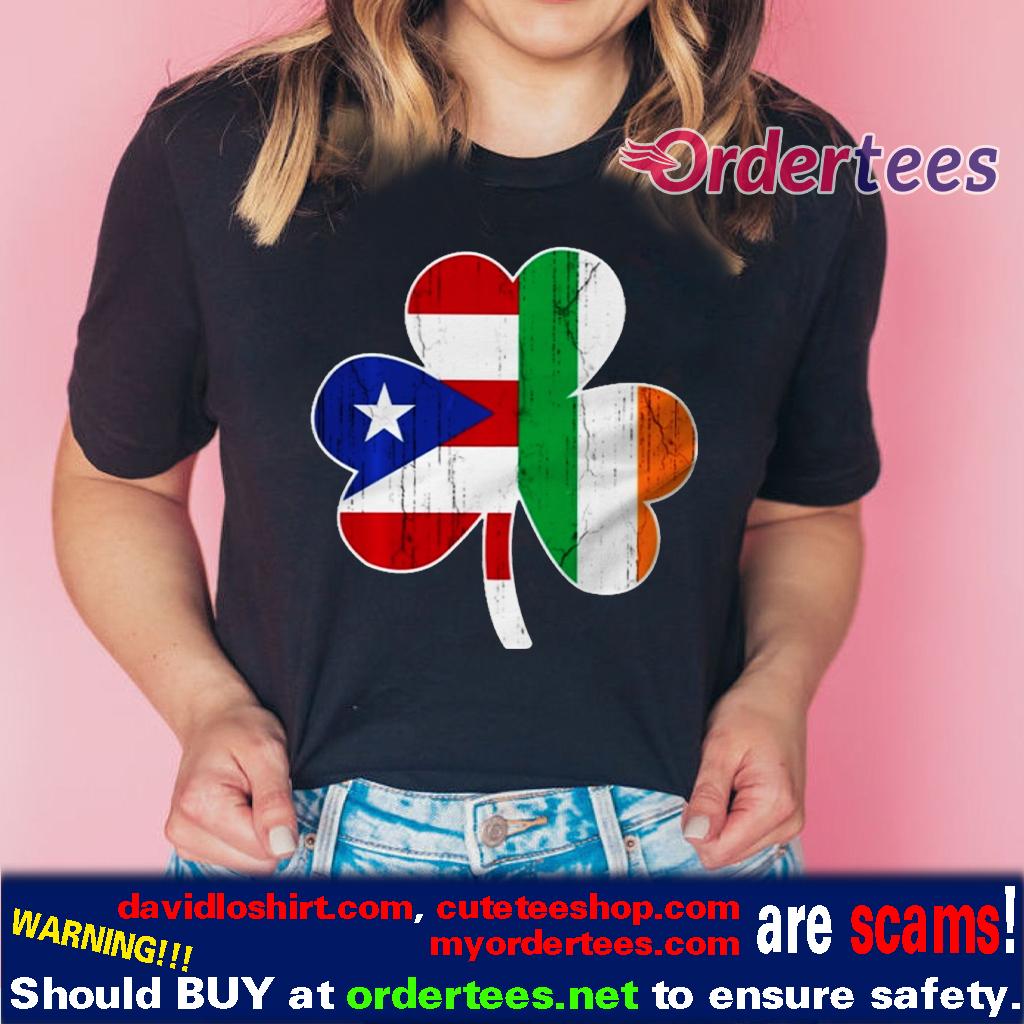 Ireland Irish Puerto Rican St Patrick Day Shirts