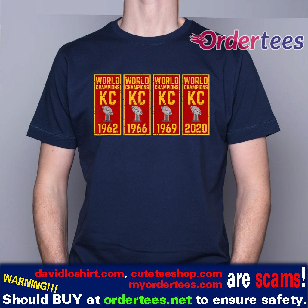 Kansas City Football KC Faithful 2020 Title Banner Champions T-Shirt
