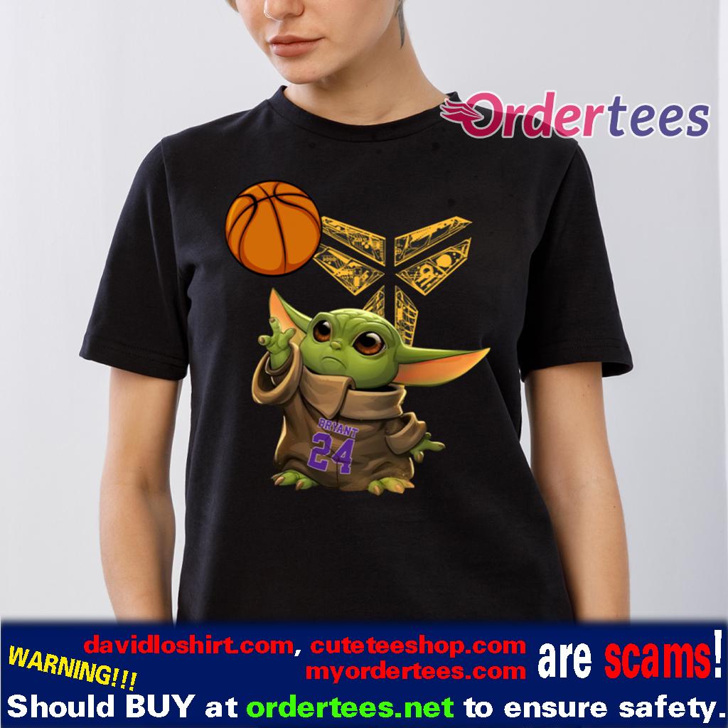 Kobe Bryant Baby Yoda Black Mamba Basketball T-Shirt