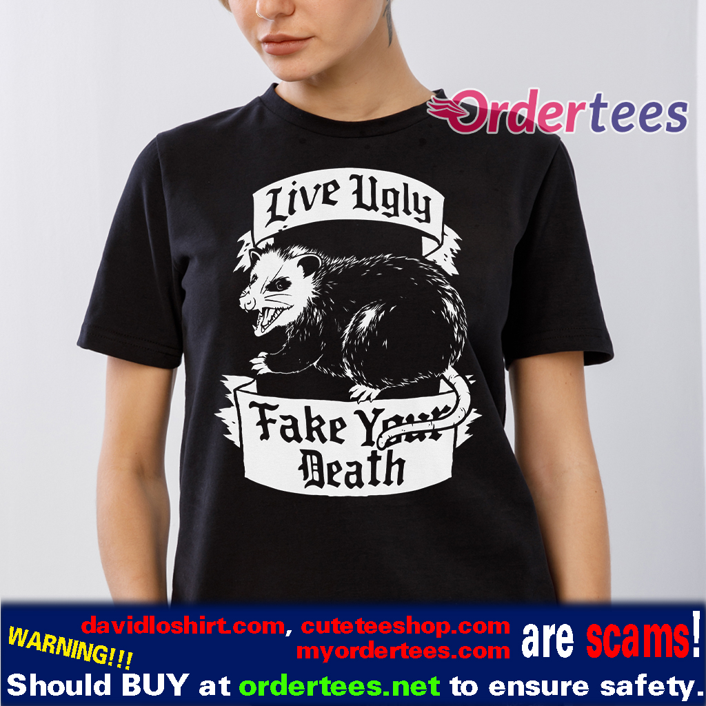 Live Ugly Possum T-Shirt - Funny animal t-shirts