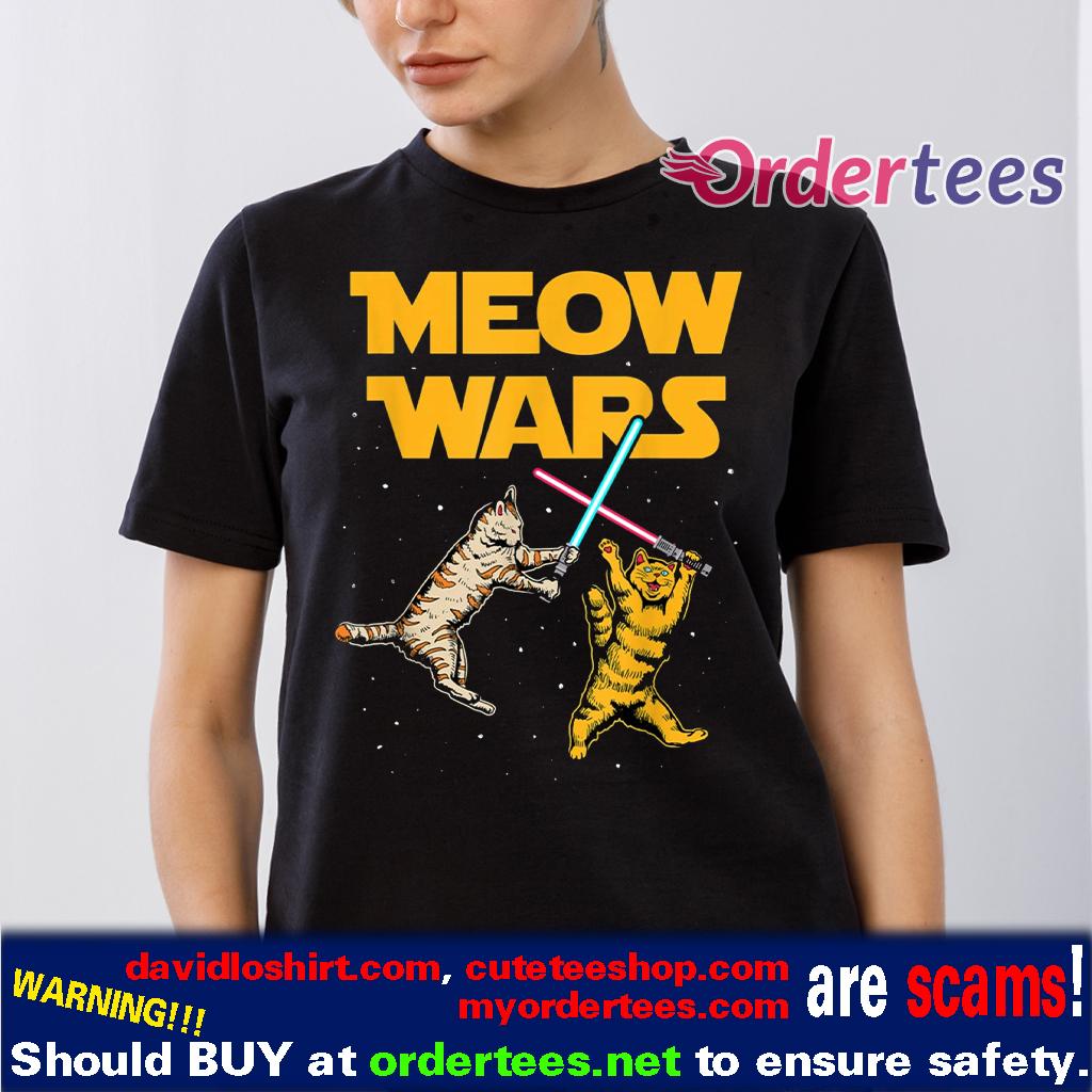 Meow Wars Cat Lover T-Shirt