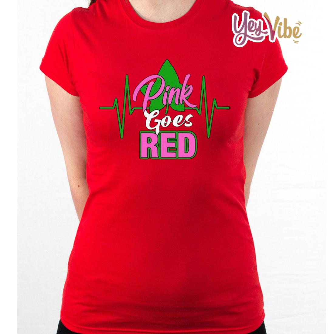 Pink Goes Red T-Shirt Alpha Kappa Alpha