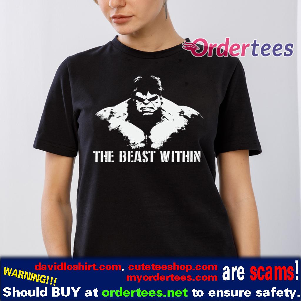 The Beast Within Hulk Mens Bodybuilding T Shirt