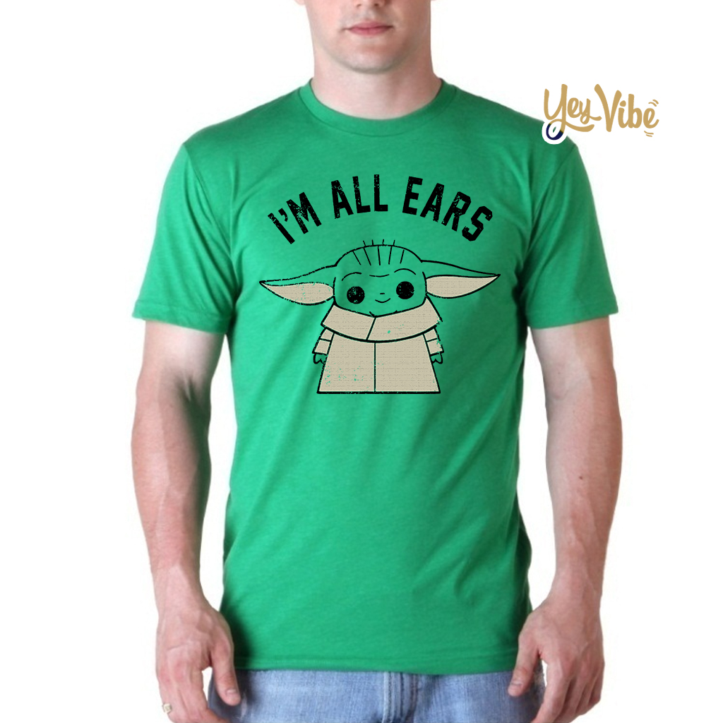 The Mandalorian The Child I'm All Ears Outline T-Shirt