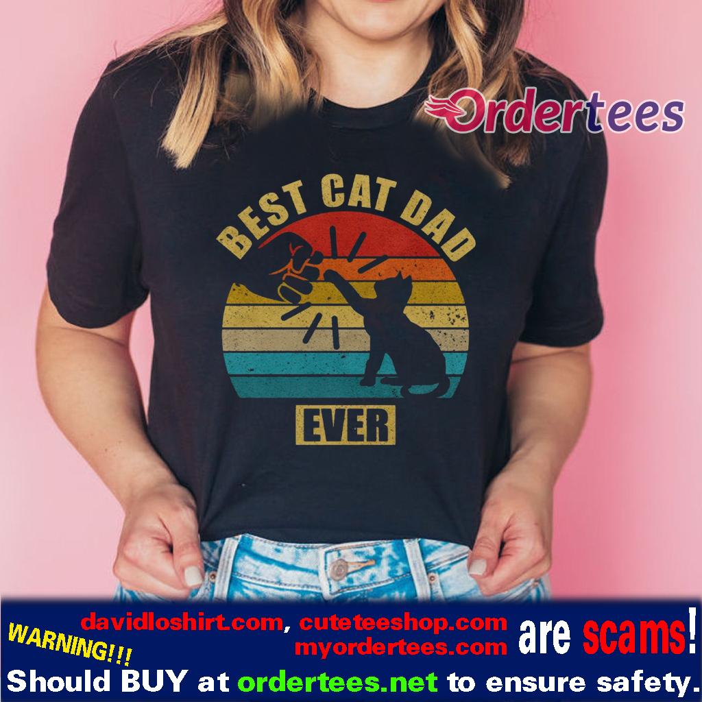 Vintage Best Cat Dad Ever Bump t-shirts