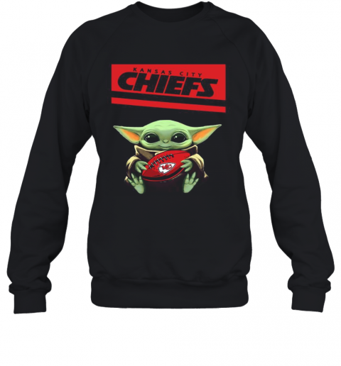 Baby Yoda Hug Kansas City Chiefs Football Logo T-Shirt ...