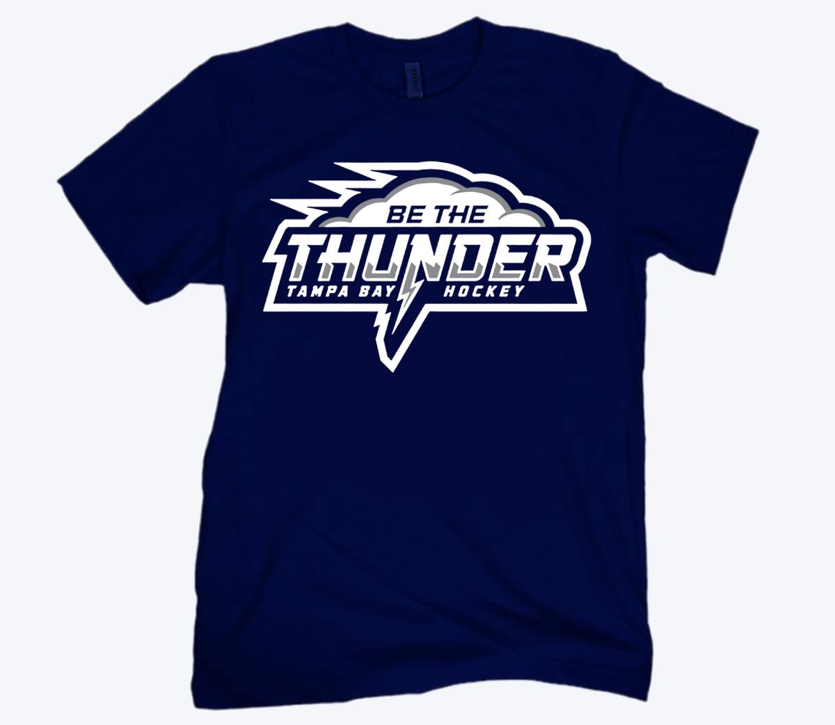 Be the Thunder T-Shirt - Tampa Bay Hockey