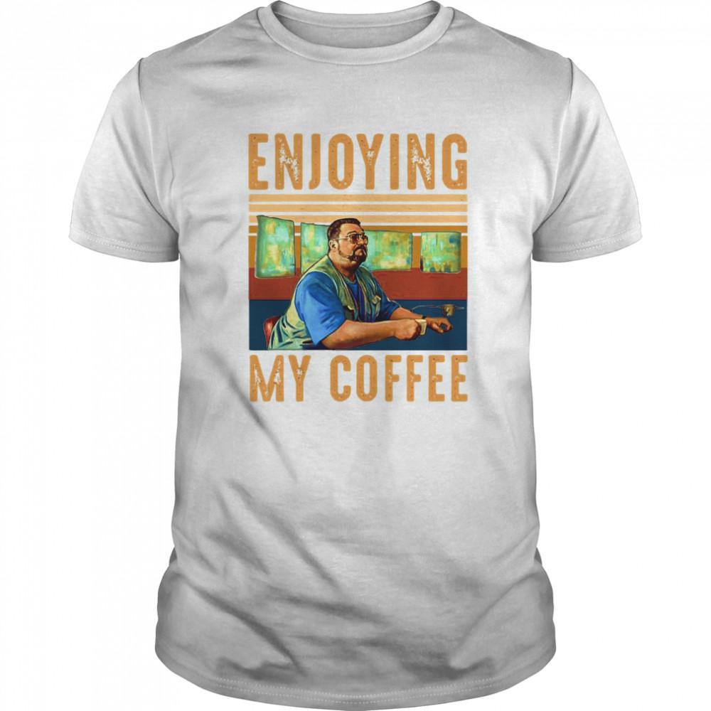 Enjoying My Coffee Vintage Retro  Classic Men's T-shirt