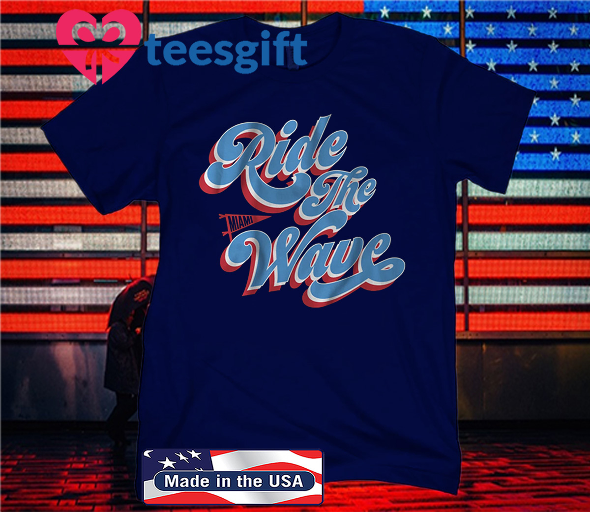 Ride the Wave T-Shirt - Miami Baseball