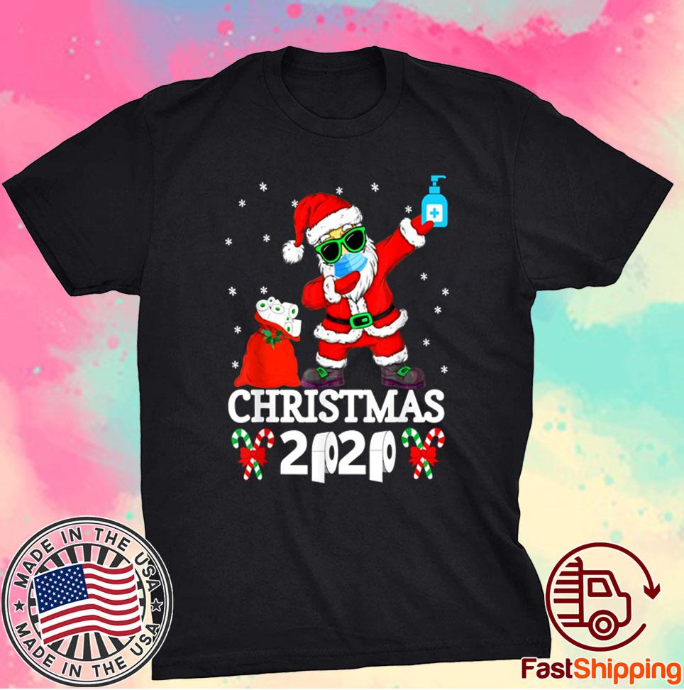 Merry Quarantine Christmas 2020 Pajamas Family Xmas Dabbing Shirt