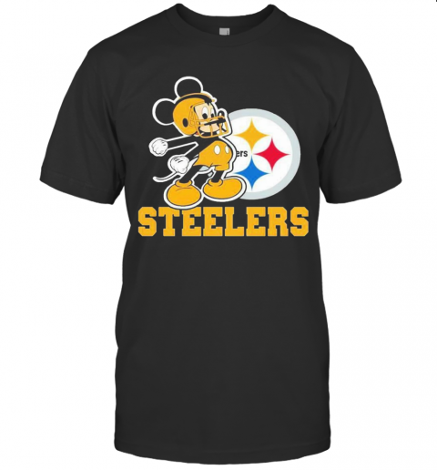 Mickey Mouse Pittsburgh Steelers Football Logo Team T-Shirt Classic Men's T-shirt