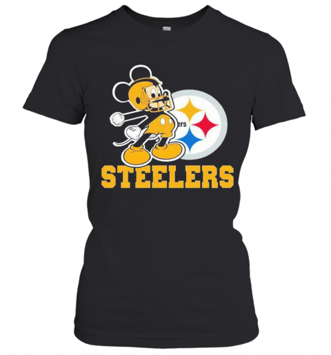 Mickey Mouse Pittsburgh Steelers Football Logo Team T-Shirt Classic Women's T-shirt