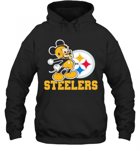 Mickey Mouse Pittsburgh Steelers Football Logo Team T-Shirt Unisex Hoodie