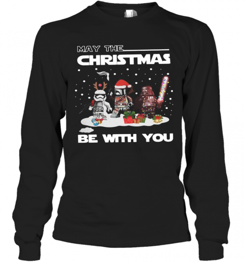 Star Wars Character May The Christmas Be With You Christmas T-Shirt Long Sleeved T-shirt