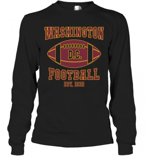 Washington DC Football Team 2020 T-Shirt Long Sleeved T-shirt