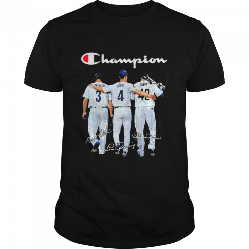 Champion babe ruth and gehrig and rivera  Classic Men's T-shirt