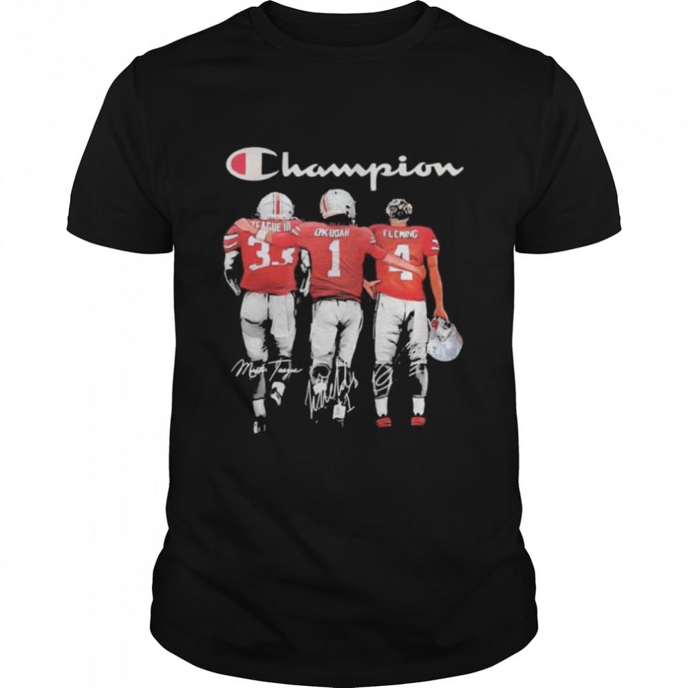 Champion League III Okudah Fleming Ohio State Buckeyes signatures  Classic Men's T-shirt