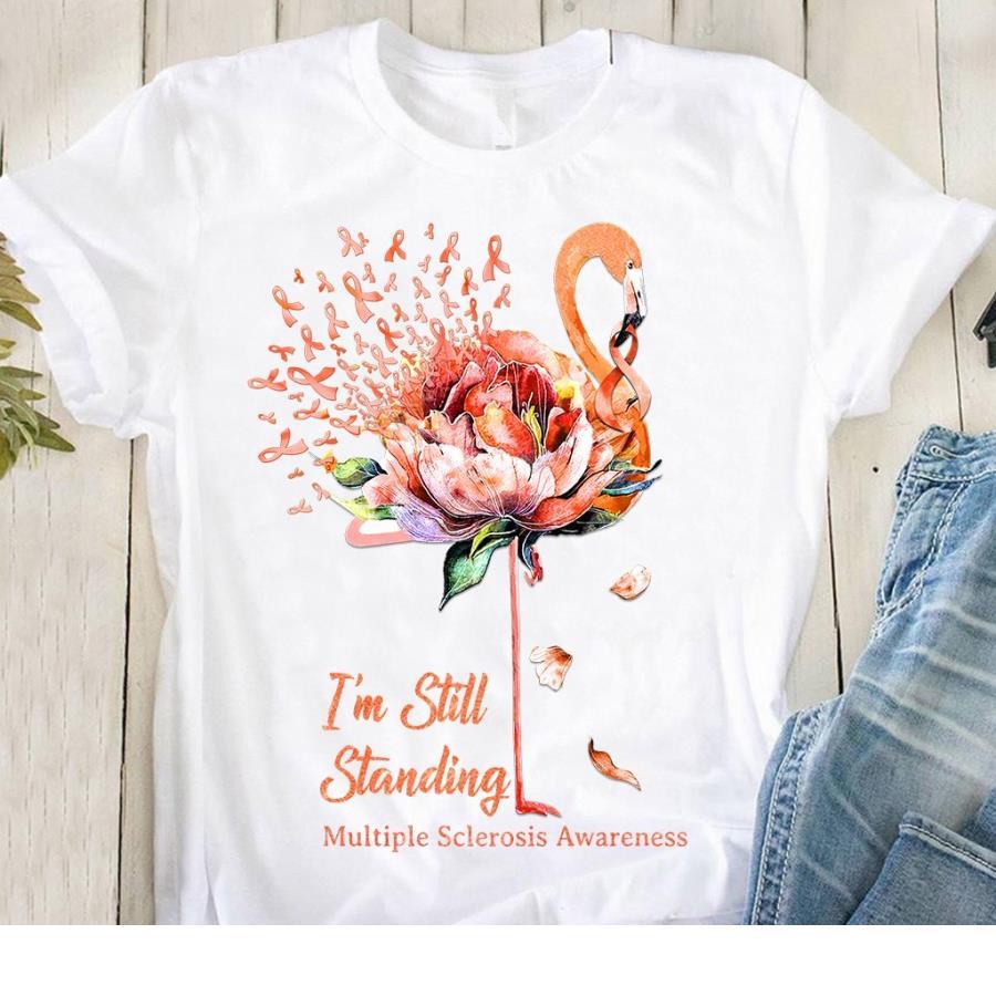 Gnomies I'm still standing Multiple sclerosis awareness girl shirt