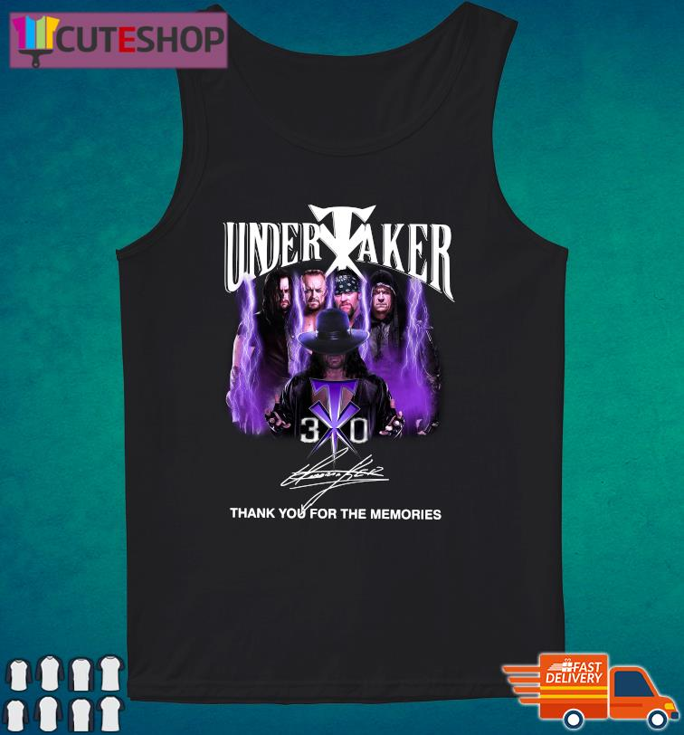The Undertaker 30th Anniversary Thank You For The Memories Signatures T-Shirt Tank Top