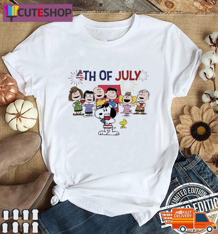 Snoopy And The Peanuts Characters Happy 4th Of July, Independence Day Shirt